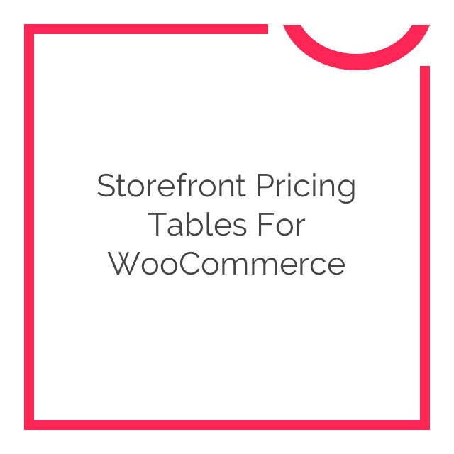 Storefront Pricing Tables for WooCommerce 1.0.3