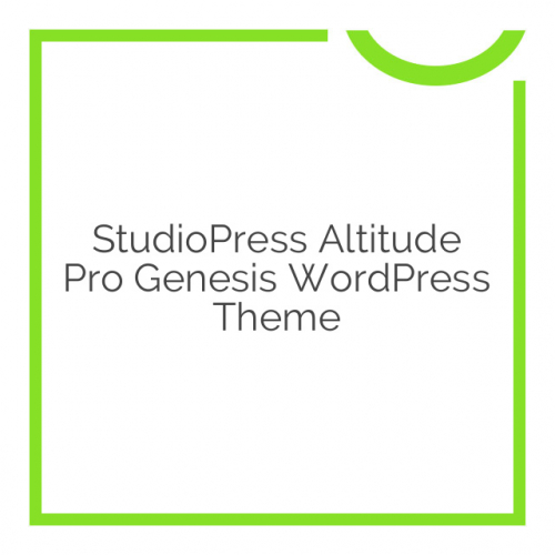StudioPress Altitude Pro Genesis WordPress Theme 1.1.3
