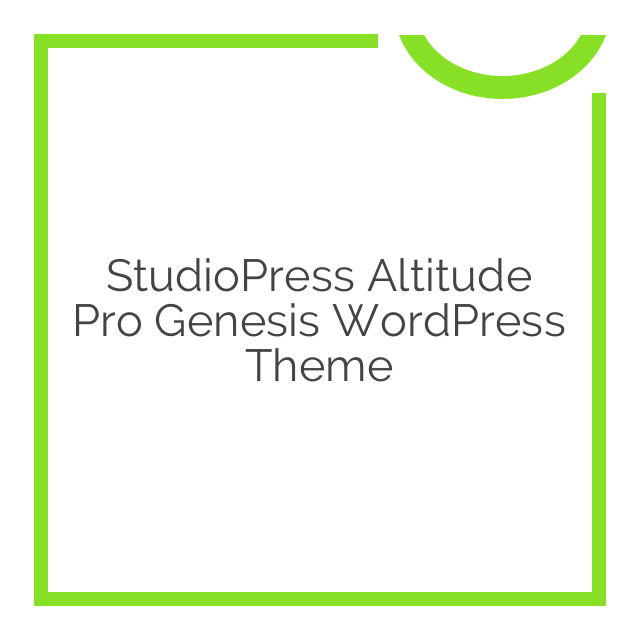 StudioPress Altitude Pro Genesis WordPress Theme 1.1.3