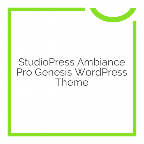 StudioPress Ambiance Pro Genesis WordPress Theme 1.1.1