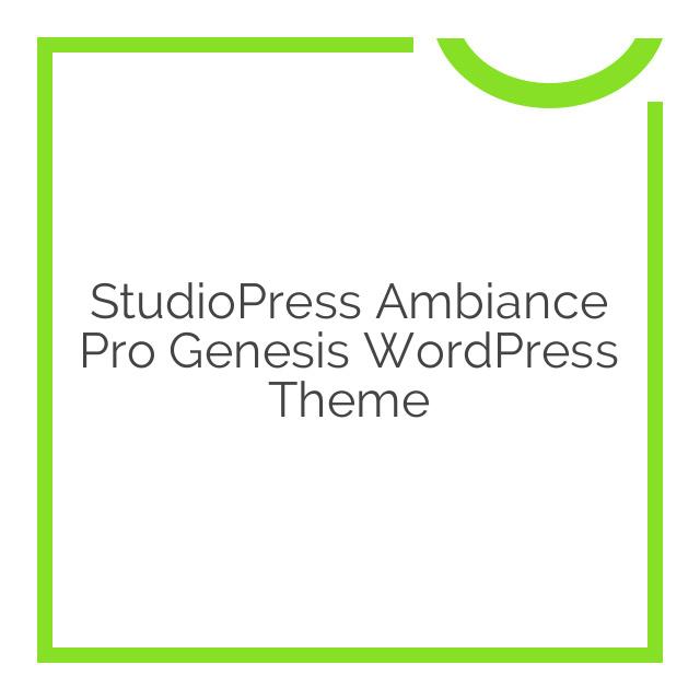 StudioPress Ambiance Pro Genesis WordPress Theme 1.1.1