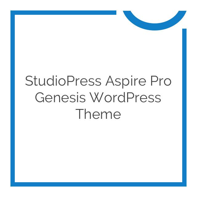 StudioPress Aspire Pro Genesis WordPress Theme 1.2.0