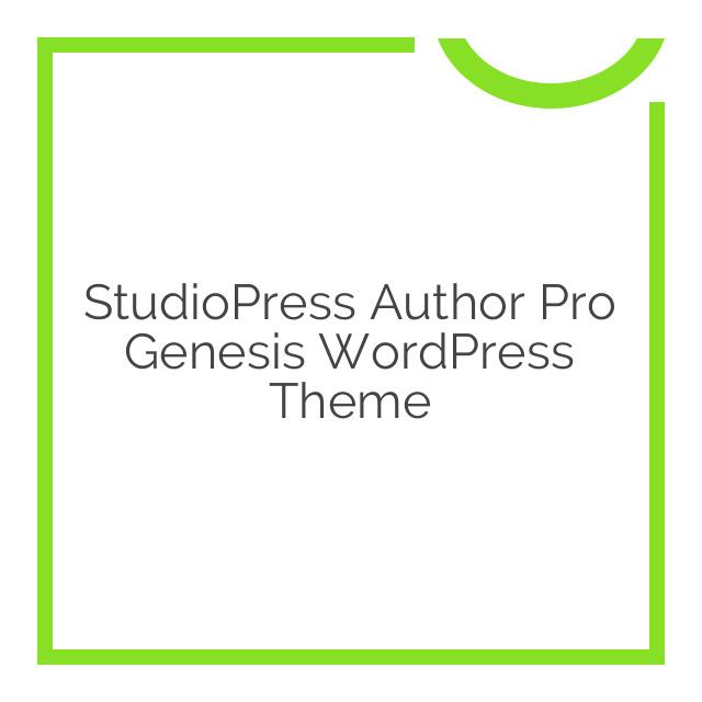 StudioPress Author Pro Genesis WordPress Theme 1.2.3