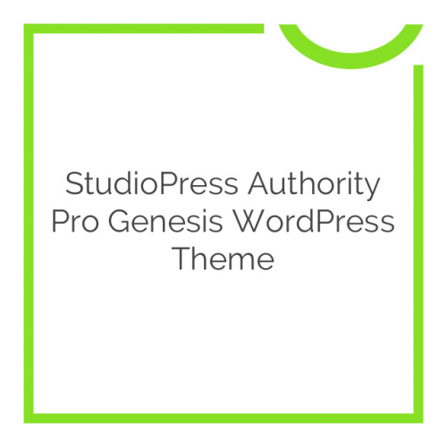 StudioPress Authority Pro Genesis WordPress Theme 1.0.1