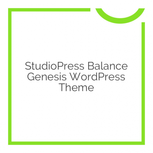 StudioPress Balance Genesis WordPress Theme 1.0.0