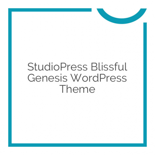 StudioPress Blissful Genesis WordPress Theme 1.0.1