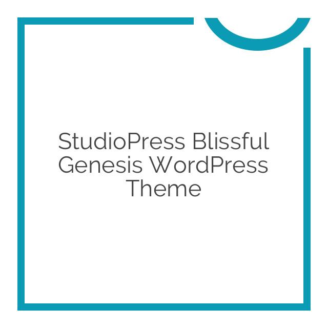 StudioPress Blissful Genesis WordPress Theme 1.0.1