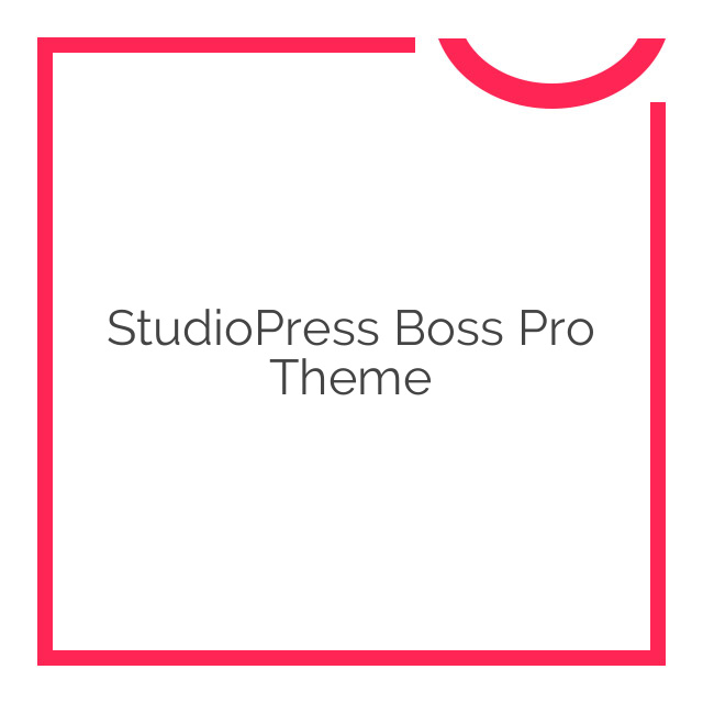 StudioPress Boss Pro Theme 1.0.1