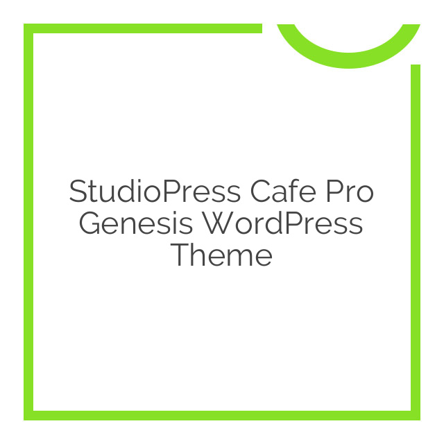 StudioPress Cafe Pro Genesis WordPress Theme 1.0.4