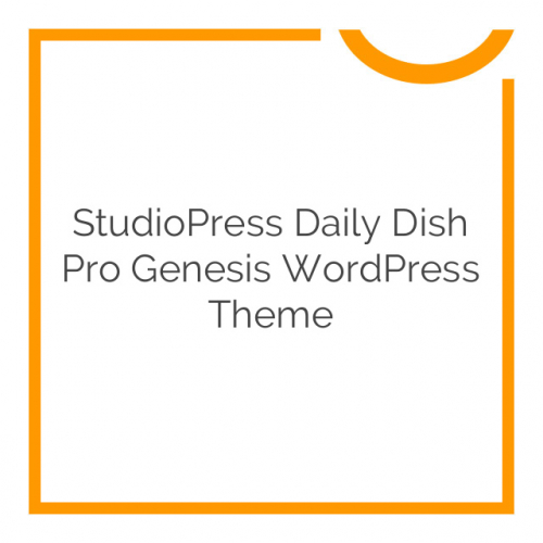 StudioPress Daily Dish Pro Genesis WordPress Theme 2.1