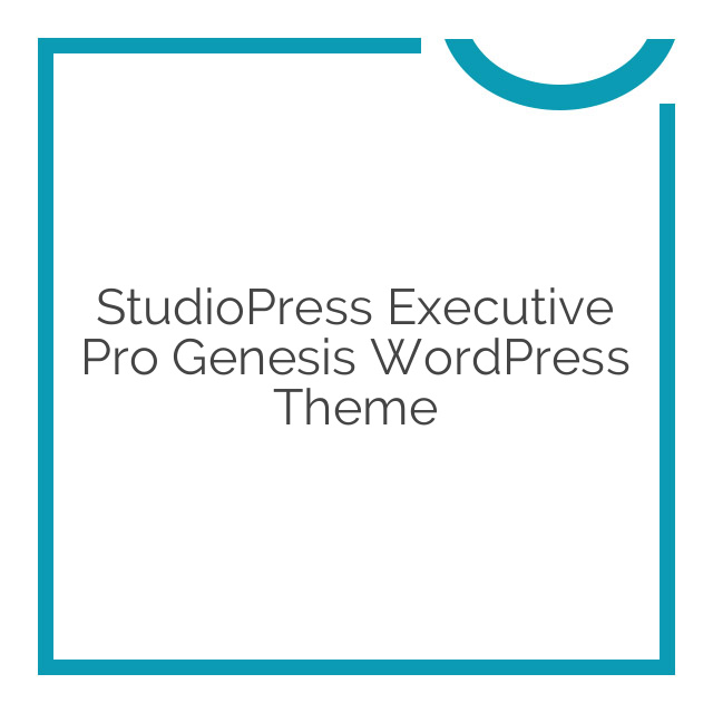 StudioPress Executive Pro Genesis WordPress Theme 3.2.3