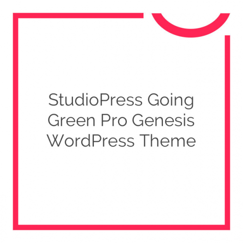 StudioPress Going Green Pro Genesis WordPress Theme 3.1
