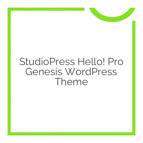 StudioPress Hello! Pro Genesis WordPress Theme 1.5.1