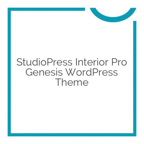 StudioPress Interior Pro Genesis WordPress Theme 1.0.0