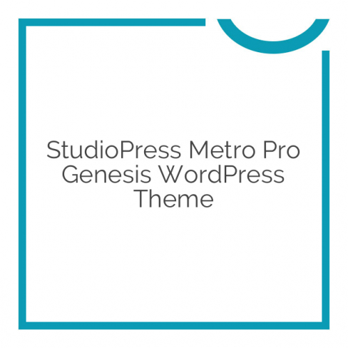 StudioPress Metro Pro Genesis WordPress Theme 2.2.2