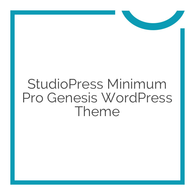 StudioPress Minimum Pro Genesis WordPress Theme 3.2.1