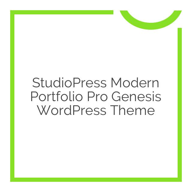 StudioPress Modern Portfolio Pro Genesis WordPress Theme 2.1.2