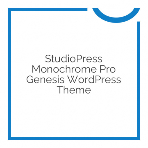 StudioPress Monochrome Pro Genesis WordPress Theme 1.0.0