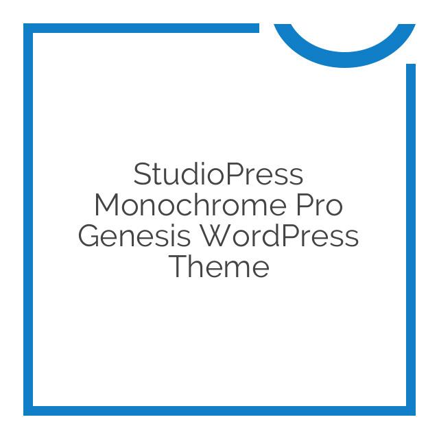 StudioPress Monochrome Pro Genesis WordPress Theme 1.0.0