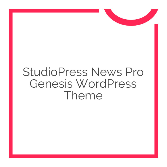 StudioPress News Pro Genesis WordPress Theme 3.2.2