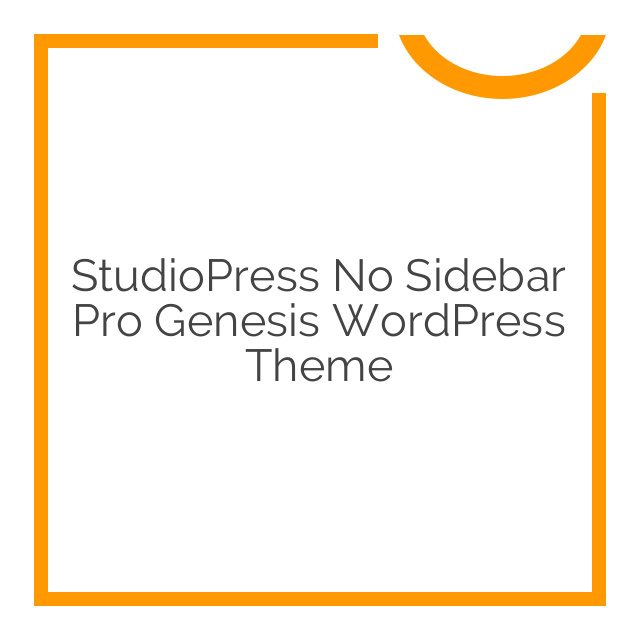 StudioPress No Sidebar Pro Genesis WordPress Theme 1.0.4