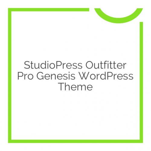 StudioPress Outfitter Pro Genesis WordPress Theme 1.0.1