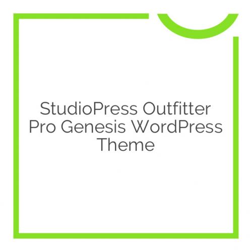 StudioPress Outfitter Pro Genesis WordPress Theme 1.0.1