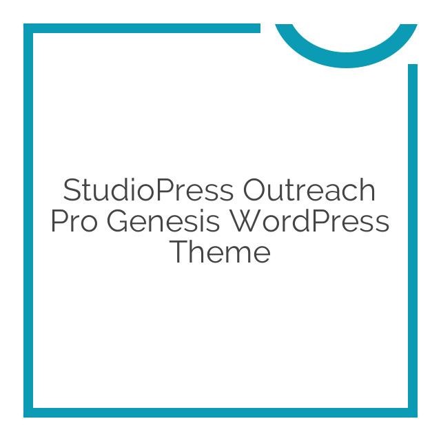 StudioPress Outreach Pro Genesis WordPress Theme 3.1