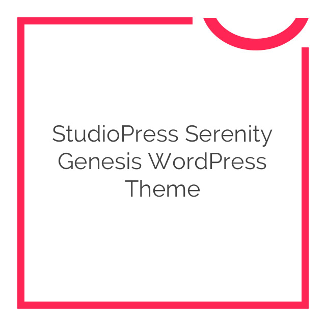 StudioPress Serenity Genesis WordPress Theme 1.0.3