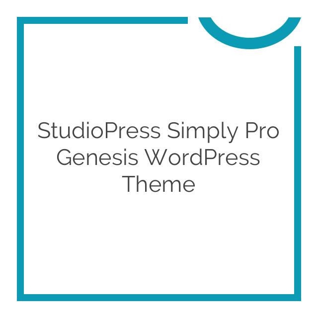 StudioPress Simply Pro Genesis WordPress Theme 1.0.0