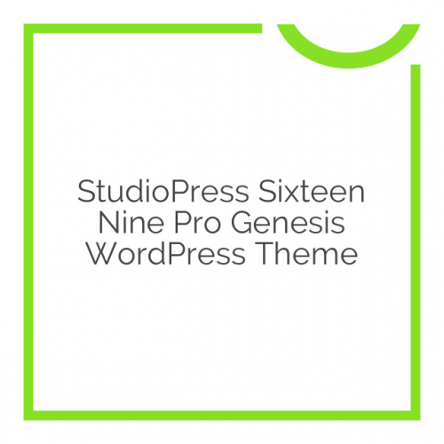 StudioPress Sixteen Nine Pro Genesis WordPress Theme 1.1