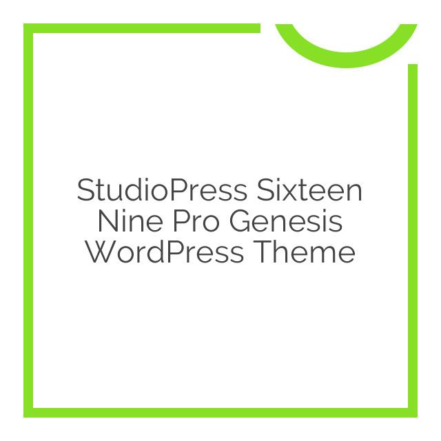 StudioPress Sixteen Nine Pro Genesis WordPress Theme 1.1