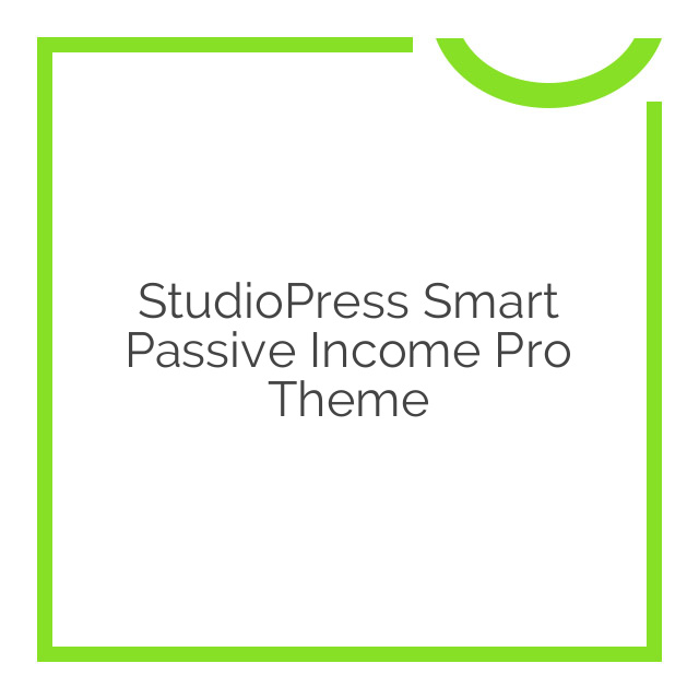 StudioPress Smart Passive Income Pro Theme 1.1.3