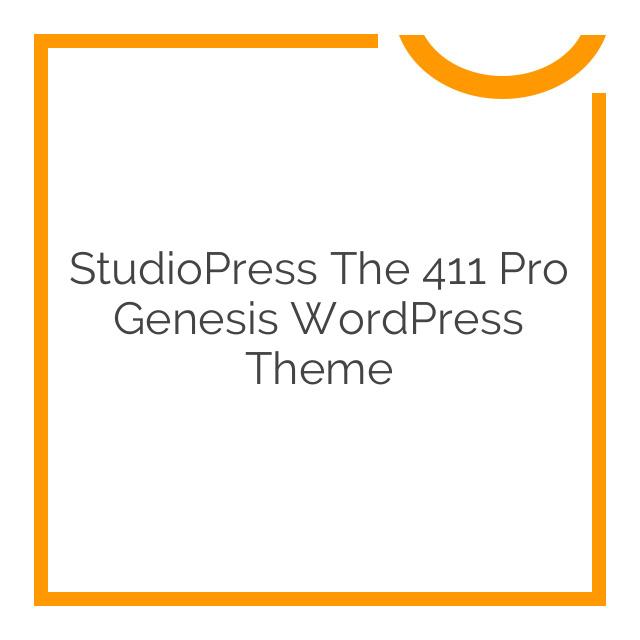 StudioPress The 411 Pro Genesis WordPress Theme 1.1