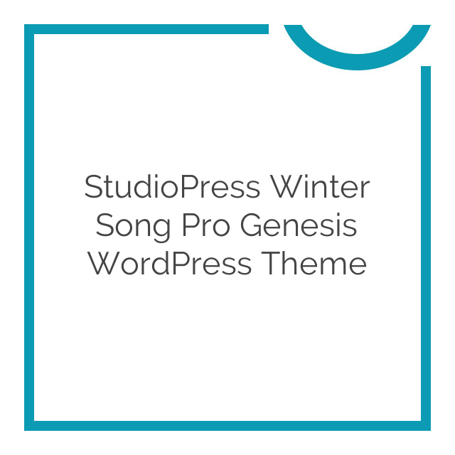 StudioPress Winter Song Pro Genesis WordPress Theme 1.1