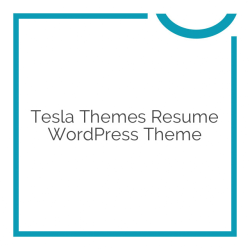 Tesla Themes Resume WordPress Theme 1.3