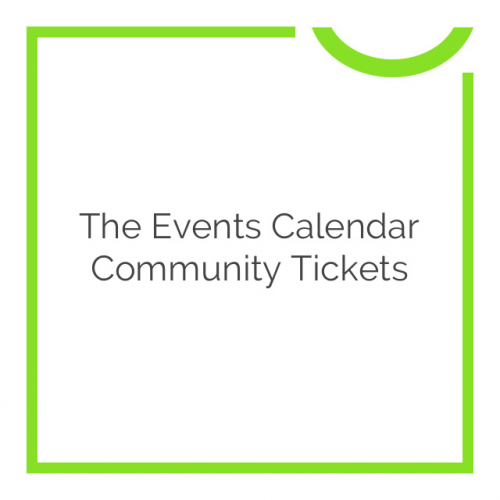 The Events Calendar Community Tickets 4.5.3