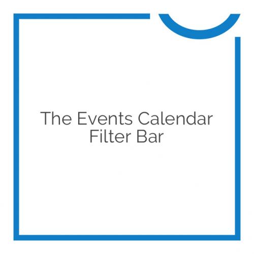 The Events Calendar Filter Bar 4.5.1