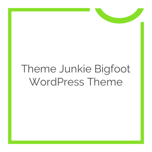 Theme Junkie Bigfoot WordPress Theme 1.0.8