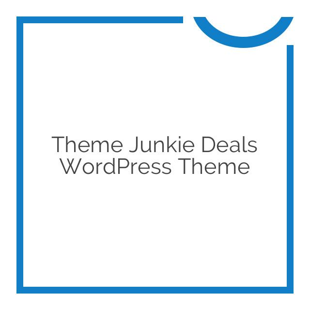 Theme Junkie Deals WordPress Theme 1.1