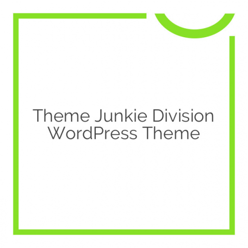 Theme Junkie Division WordPress Theme 1.0.6