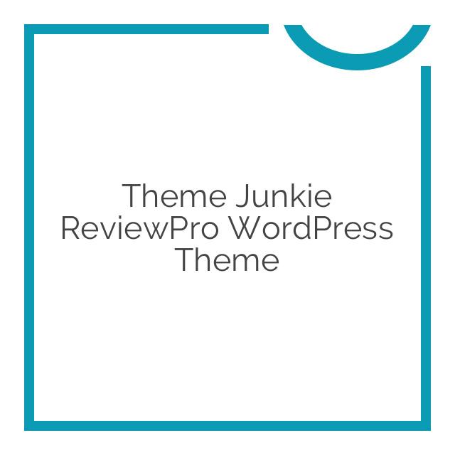 Theme Junkie ReviewPro WordPress Theme 1.0.2