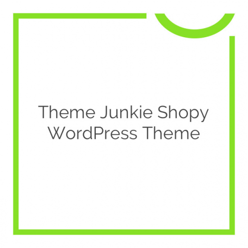 Theme Junkie Shopy WordPress Theme 1.0.3