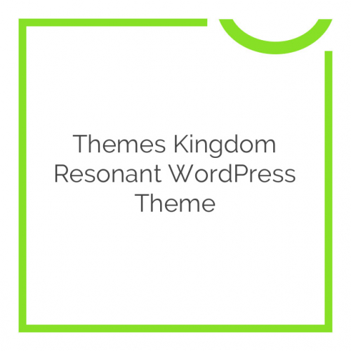 Themes Kingdom Resonant WordPress Theme 1.1.1