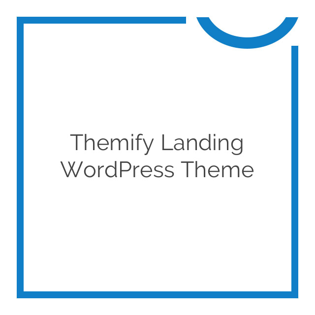 Themify Landing WordPress Theme 1.4.5