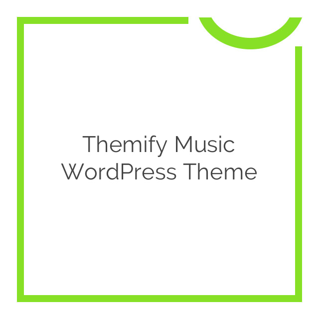 Themify Music WordPress Theme 1.7.7