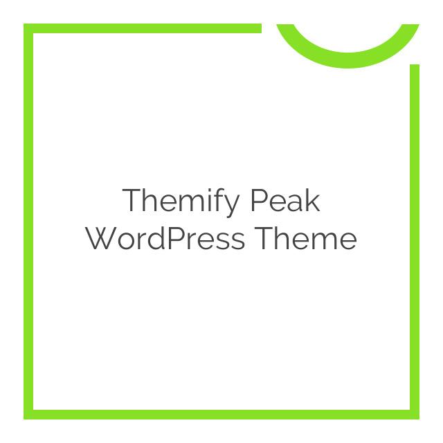 Themify Peak WordPress Theme 1.2.2