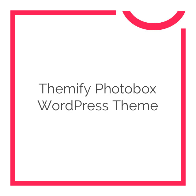 Themify Photobox WordPress Theme 2.0.1