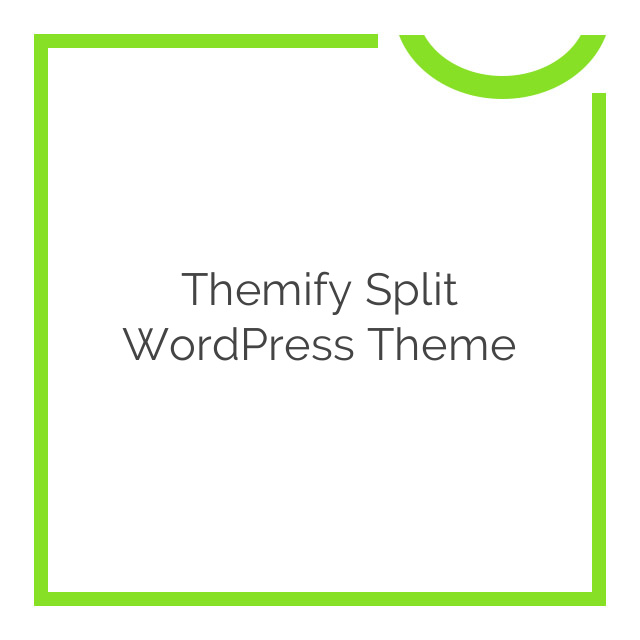 Themify Split WordPress Theme 1.5.4