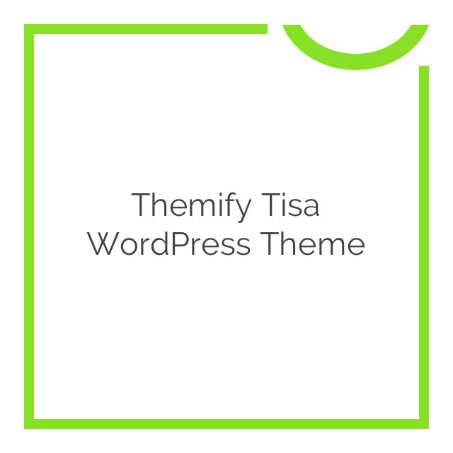 Themify Tisa WordPress Theme 1.9.4